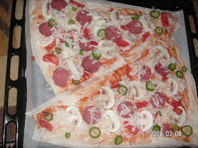 Yufkadan pizza yapılmı
