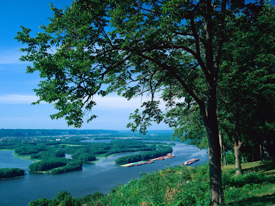 Mississippi River. States, with facts on red river history