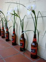 Lilies in Black Label quarts bottles