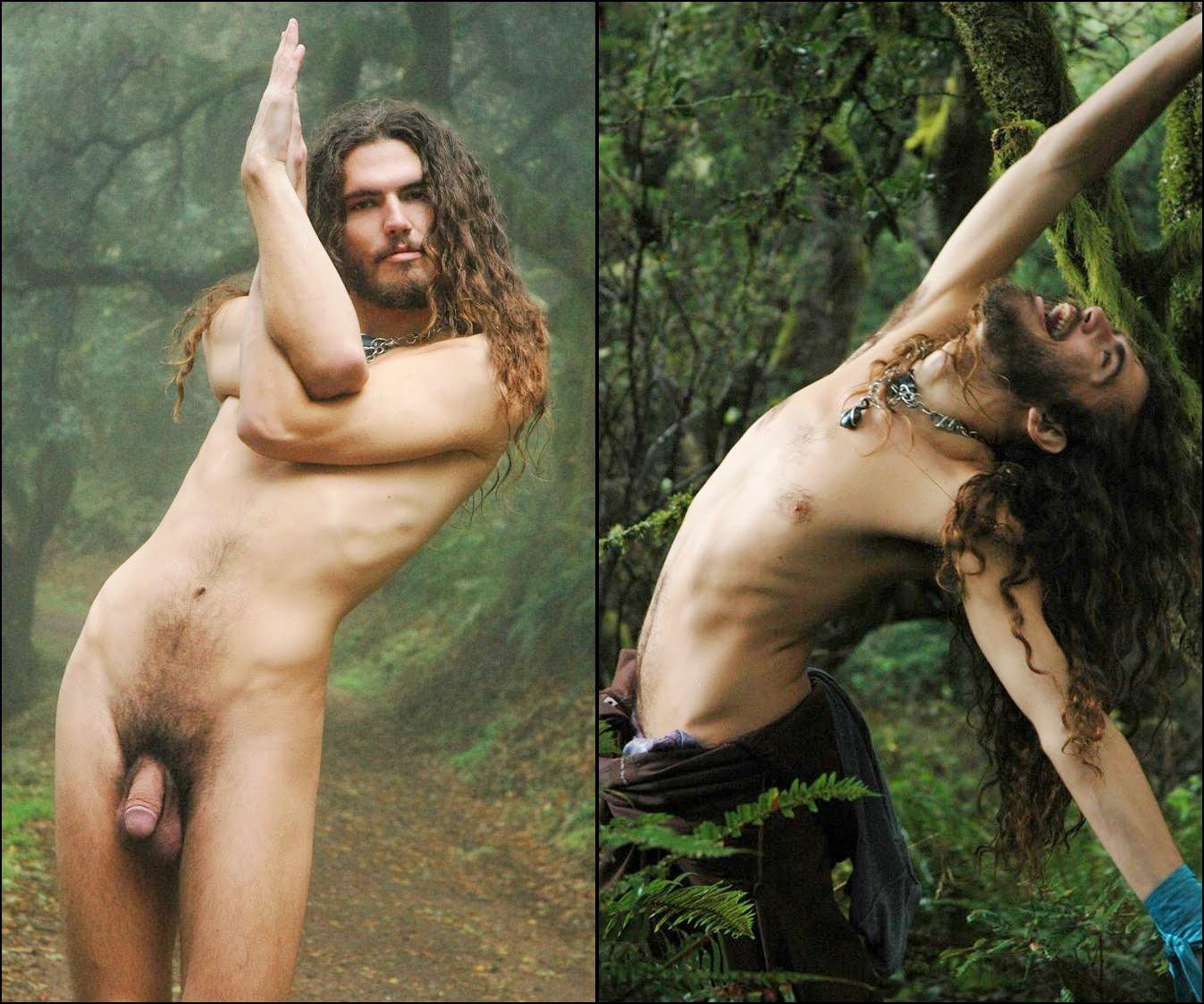 Hippie man naked