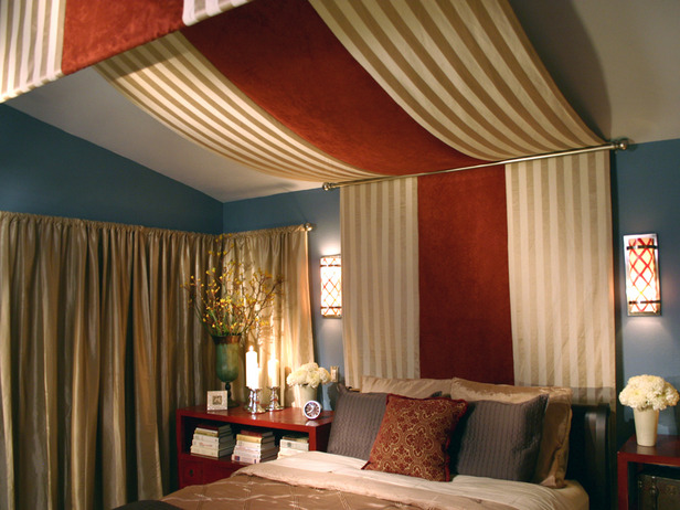 Is Pulled Out To The End Of Bed Also Notice Sloping Roof Line This Type Canopy A Wonderful Solution For Or Even Low Ceiling