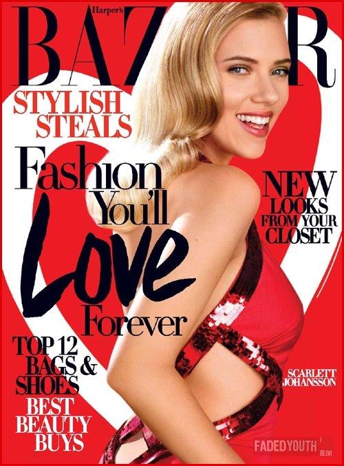 Scarlett Johansson on Harpers Bazaar February 2009