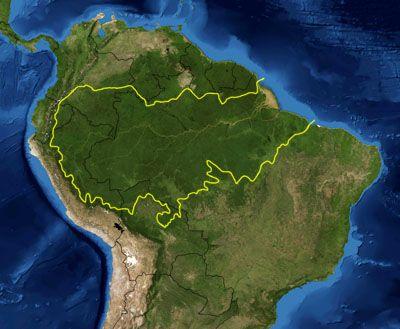 Localização da Floresta Amazônica