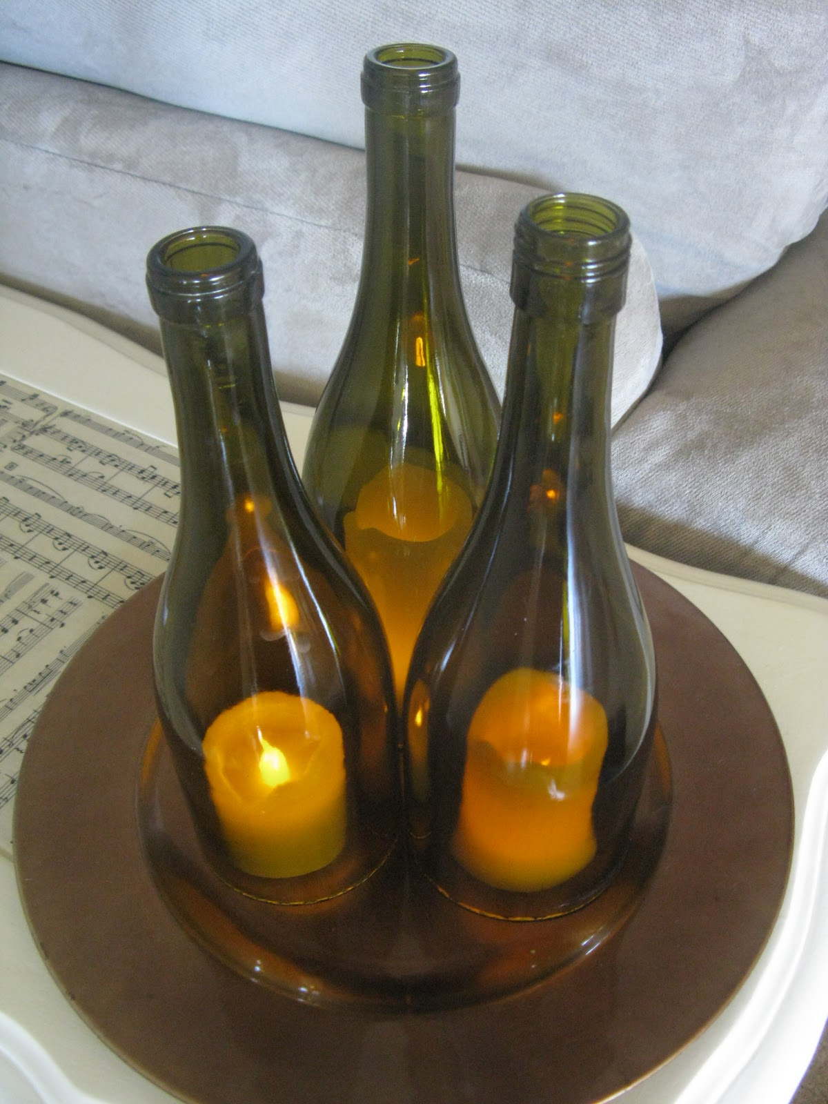 Wine bottle hurricanes for Cool things to do with a wine bottle