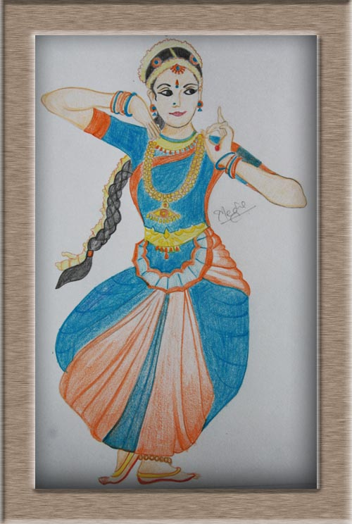 Art On Sketchbook By Megha Chhatbar Classical Dance Of India Bharatanatyam