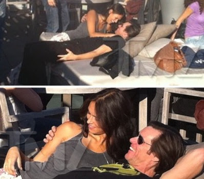 Actor Jim Carrey is in a very happy mood as he was spotted with hot brunette