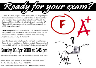 Ministry of Dawah: Are you ready 4 your FINAL exam? (DEATH!)