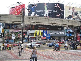 busy corner of Sultan Ismail and Bukit Bintang