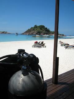 scube tank redang island beach