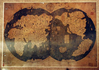 Map Of The World Before Columbus.Cover Story Who Discovered America Chinese Sailors Beat