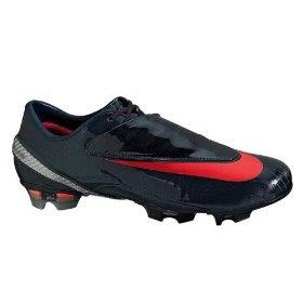 gris Masacre Montón de  Nike Football Shoes: Nike Mercurial Vapor IV FG - Charcoal/Orange/Metallic  Silver Firm Ground Soccer Shoes