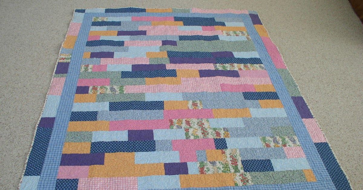 Alycia Quilts: Lasagna Quilt is Finished
