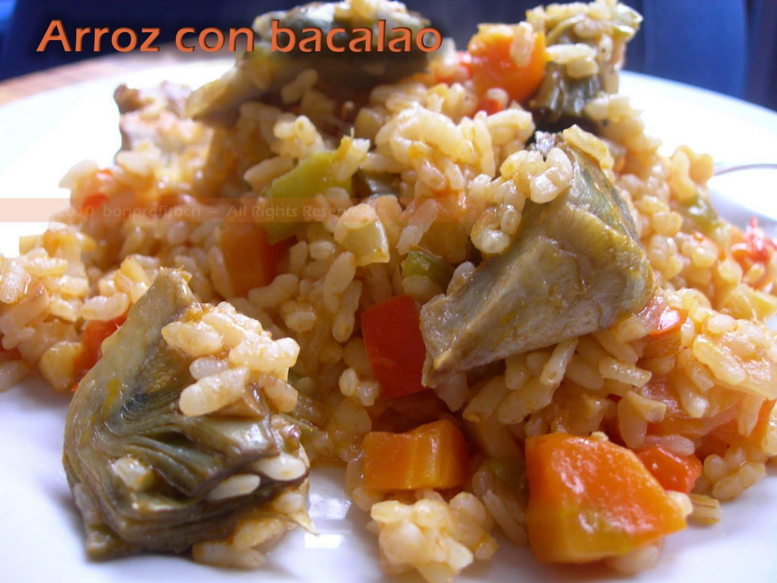 Bon profit arroz con bacalao y hortalizas - Arroz con bacalao desmigado ...