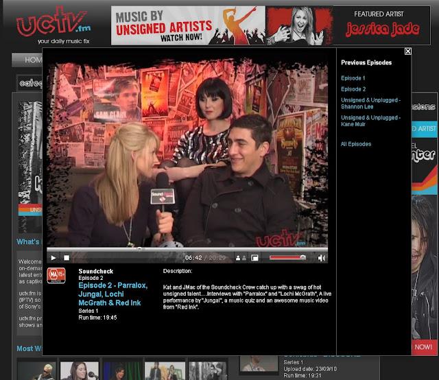 Parralox interview on UCTV Australia