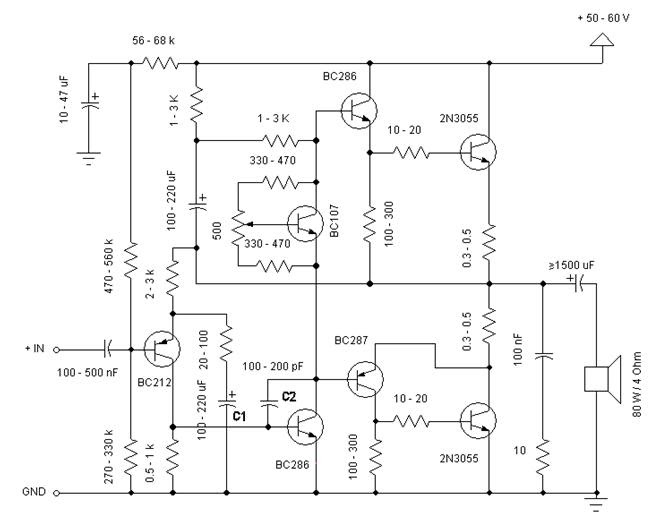 how to build power amplifier 60w 8