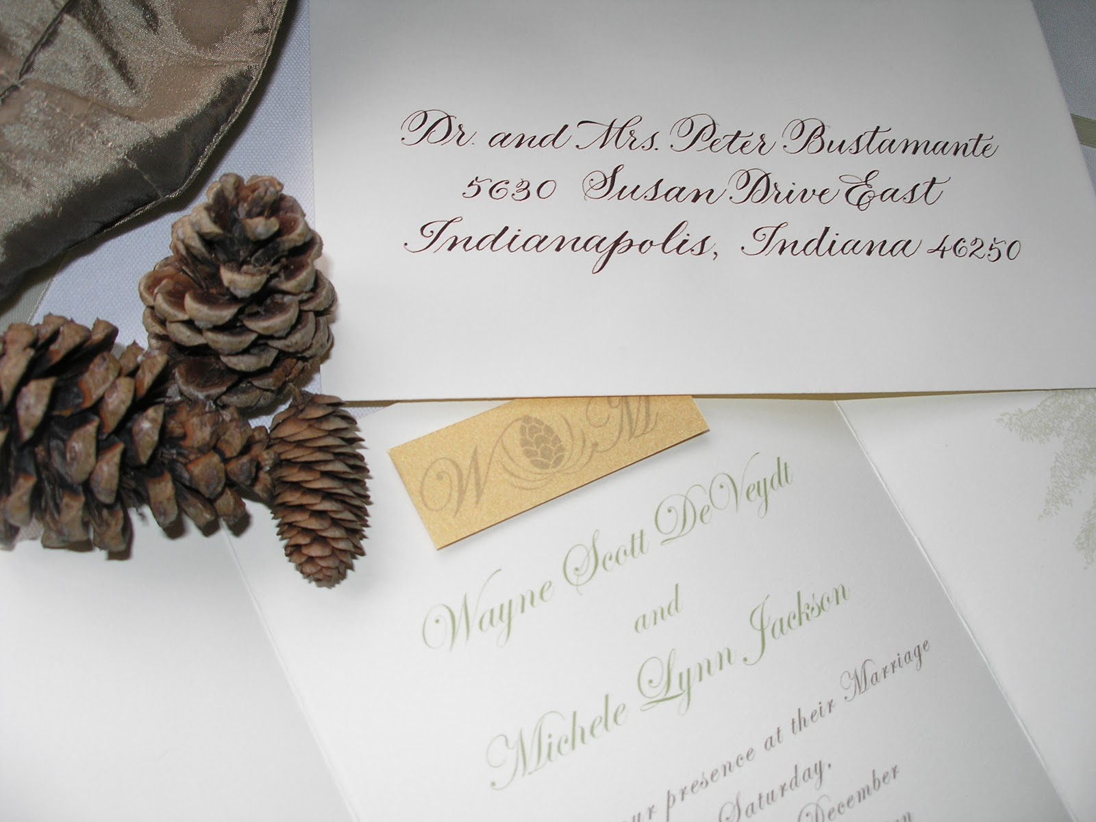 Wedding Invitations Indianapolis: Wedding Calligraphy By Jane Farr: Indiana Wedding Calligraphy
