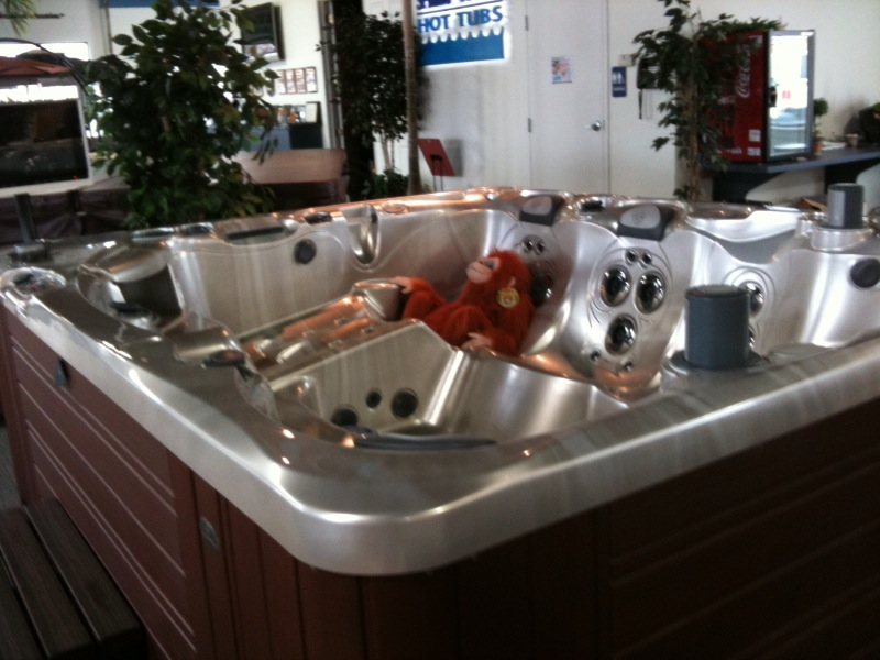 The Adventures of a Monkey in a hot tub store - Hot Tubs 101