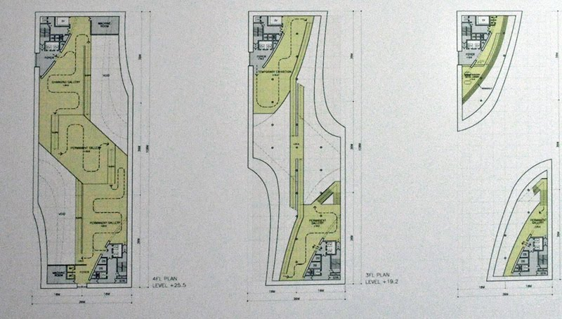 Floor Plans Of The Museum Note That In Many Spaces Are Not Functional Or Left As Multiple Height Areas Gehry Ando Focused On Creating A Scenographic
