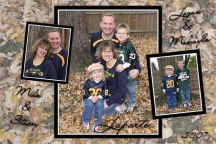 My family: Mike, Stacey, Logan, Makayla