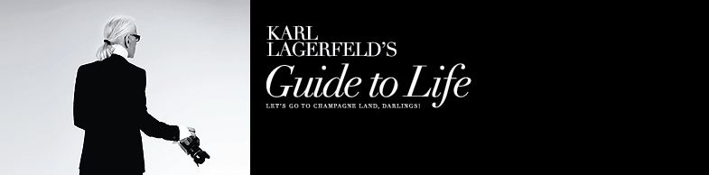 Karl Lagerfeld's Guide to Life