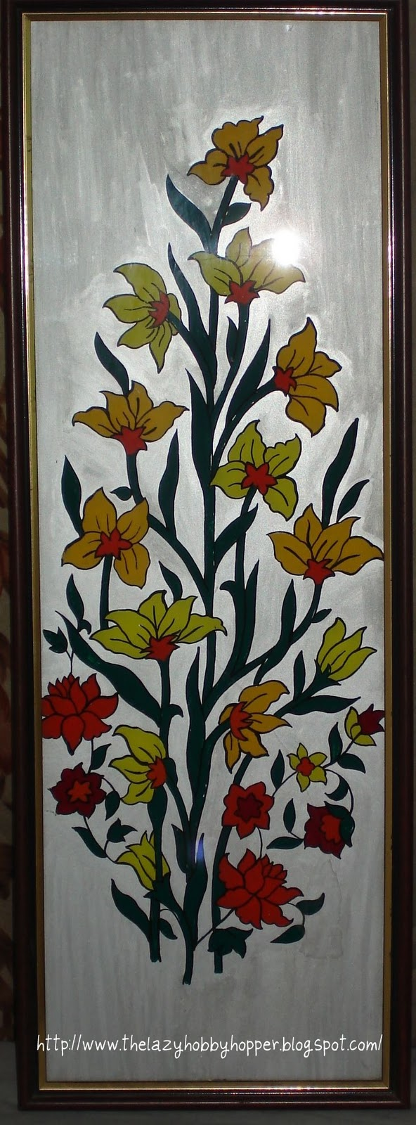 Glass Painting On Looking Mirror