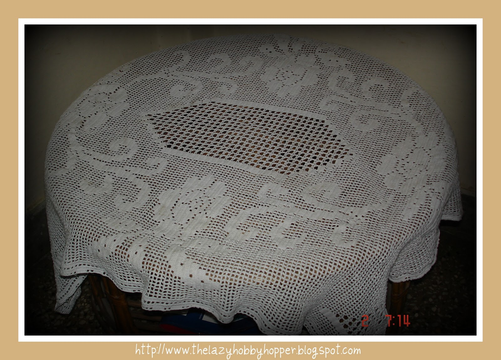 The lazy hobbyhopper filet crochet tablecloth filet crochet tablecloth bankloansurffo Choice Image