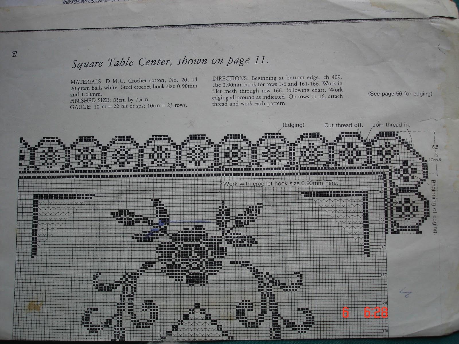 The lazy hobbyhopper filet crochet tablecloth filet crochet tablecloth ccuart Gallery