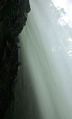 up close photo of la paz waterfall in costa rica