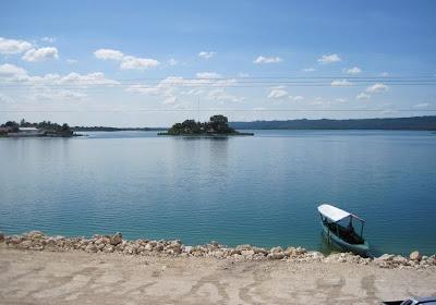 itza lake, flores island in Guatemala