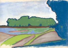 THE KANSAS RIVER - PASTEL