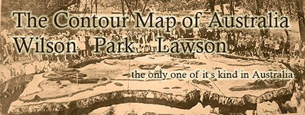 Contour Map Of Australia Lawson NSW