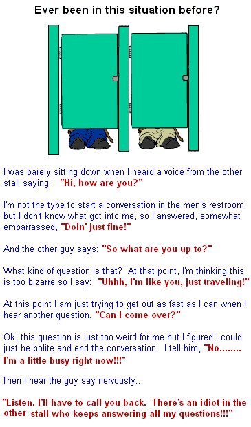 Toilet conversation