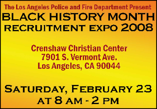 LAPD & LAFD Recruitment Expo 2008. Click to learn more...