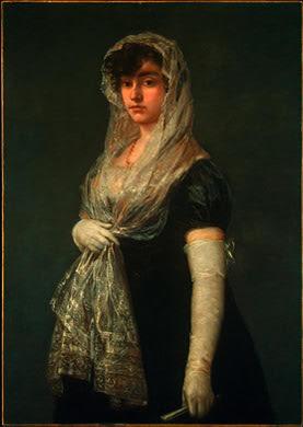 La mantilla española Goya-Joven_dama_con_mantilla_y_basqui