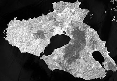 Imagem de satélite: Ilha de Lesbos - Grécia