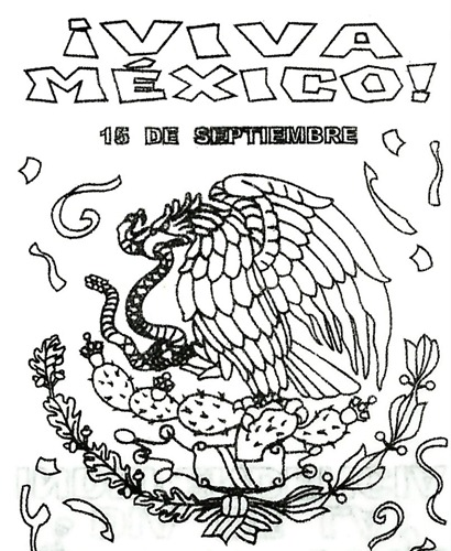Dibujos Para Colorear Y Fichas Independencia De México