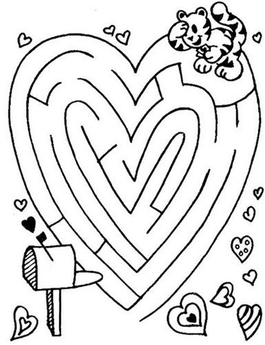 Laberinto en forma de corazón para San Valentín