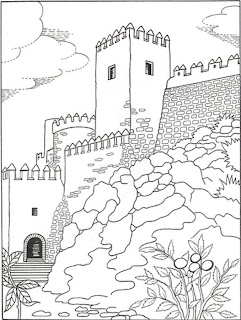 Alcazaba de Almería para colorear