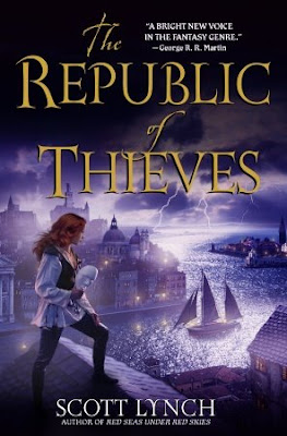 The cover art for 'The Republic of Thieves' by Scott Lynch