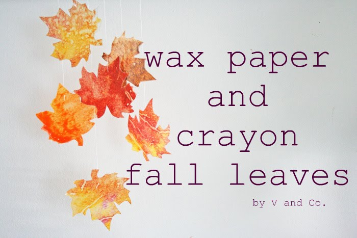 Wax Paper Crafts With Leaves
