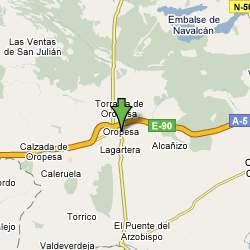 Mapa Oropesa, Toledo