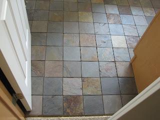 Absolute Finishing Home & Basement 2007: 4x4 slate floor tile