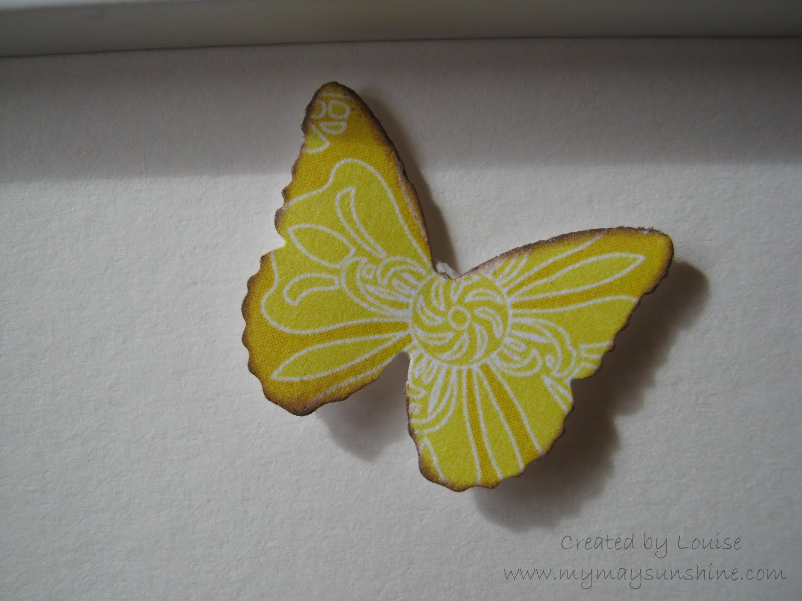 Noticeboard frame my may sunshine for Martha stewart butterfly template