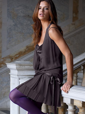drop waist dress with tights