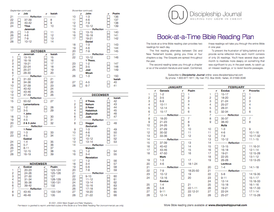 Victory bible reading plan by james mckeever