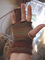 Fair Isle glove before ripping