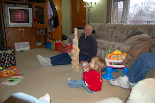 Grampa makes great towers!