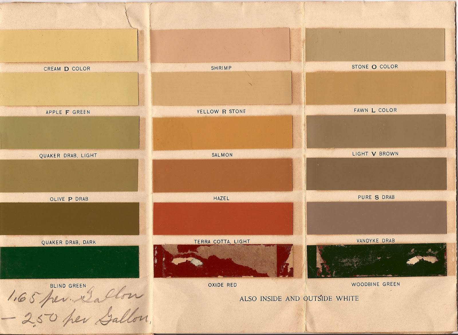 The old house blog historic paint colors for the for Classic house colors