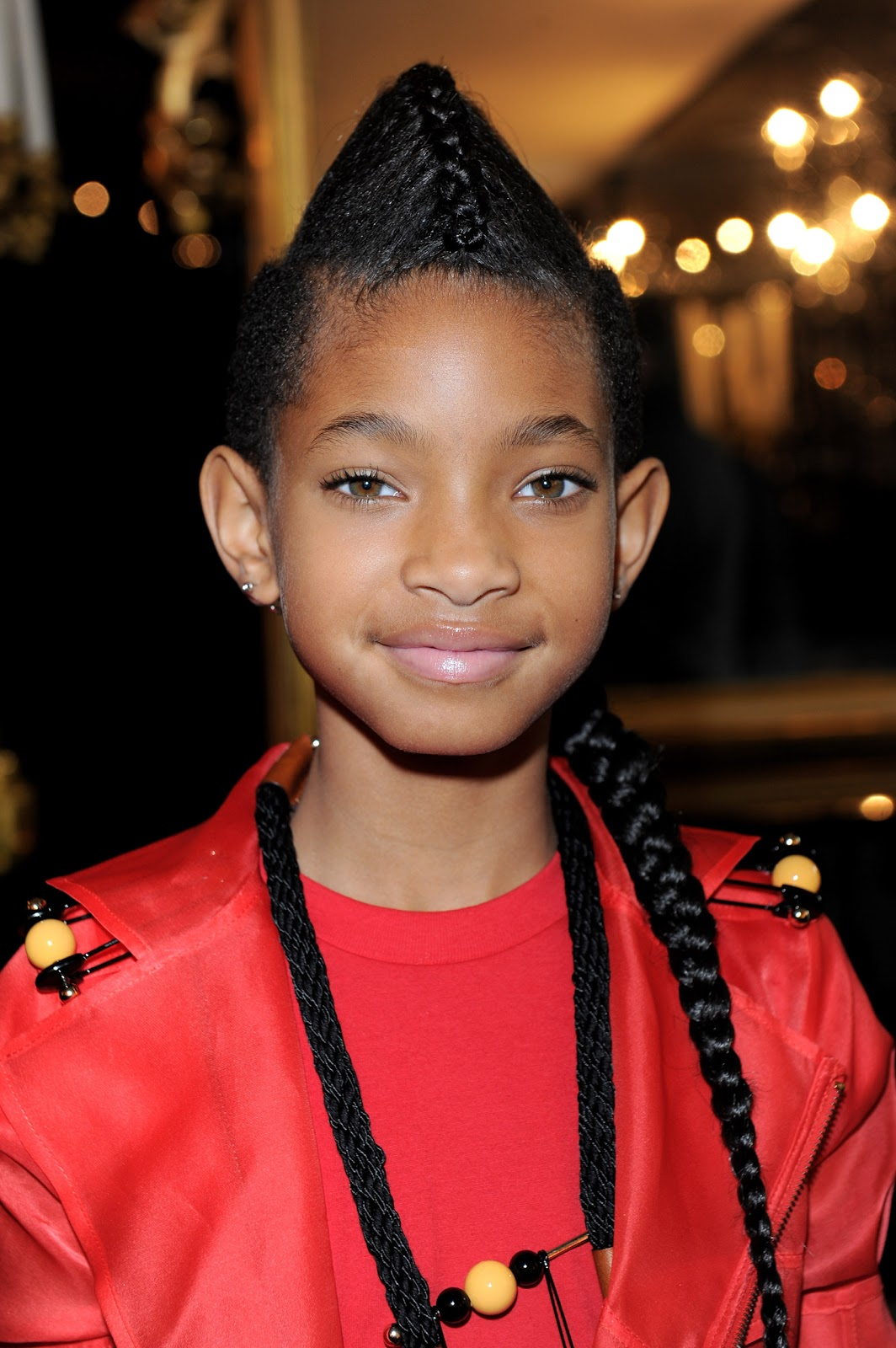 Prime Glam Or Sham Willow Smiths Braided Faux Hawk Ponytail At The Hairstyle Inspiration Daily Dogsangcom