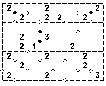 Masyu Puzzle Variation: Dotted Loop